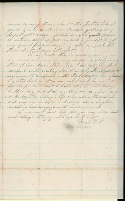 Letter from Uriah W. Oblinger to Mattie V. Thomas, June 14, 1868