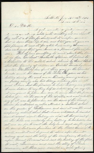 Letter from Uriah W. Oblinger to Mattie V. Thomas, June 14, 1868