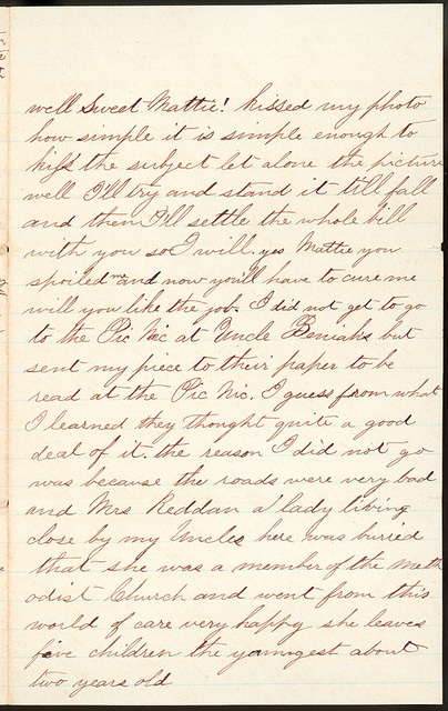 Letter from Uriah W. Oblinger to Mattie V. Thomas, June 28, 1868