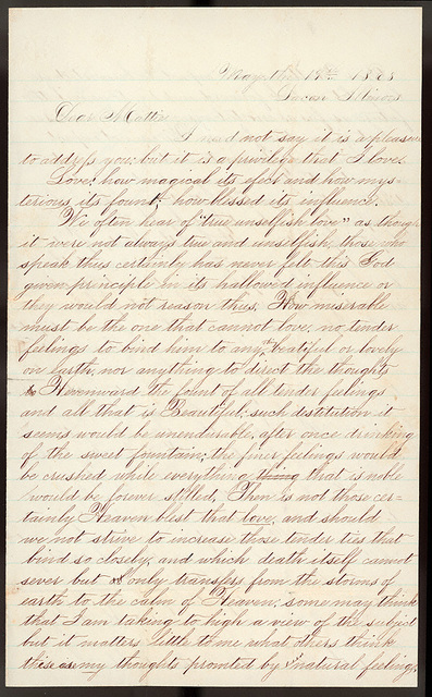 Letter from Uriah W. Oblinger to Mattie V. Thomas, May 19, 1868
