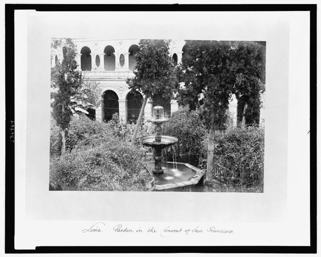 Lima. Garden in the Convent of San Francisco