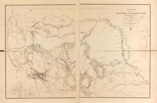 Map of the Yellowstone and Missouri Rivers and their tributaries: explored by Capt. W.F. Raynolds, Topl. Engrs. and 1st. Lieut. H. E. Maynadier, 10th. Infy. Assistant. 1859-60  /