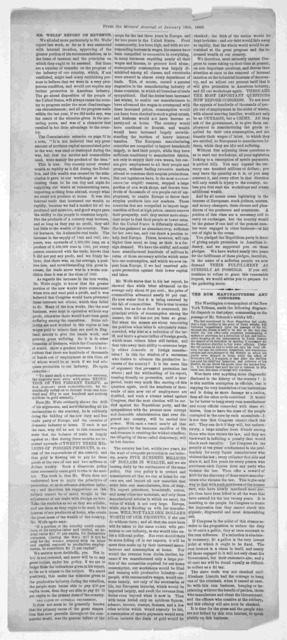 Mr. Well's report on revenue ... The rum manufacturers and Congress. From the Miner's Journal of January 16th, 1868.