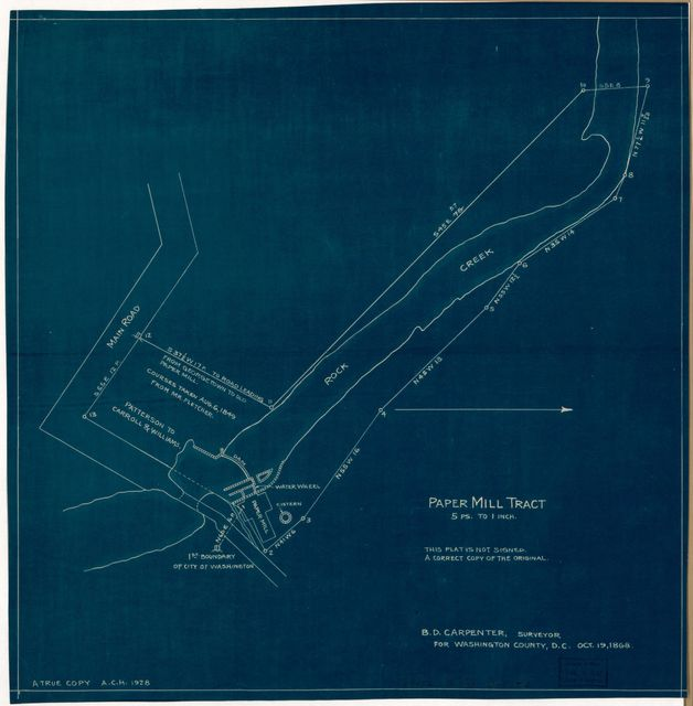 Paper Mill tract : [on Rock Creek, N.W. Washington D.C.] /