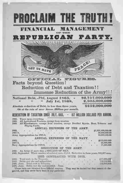 Proclaim the truth! Financial management of the Republican party ... [n, p. 1868].