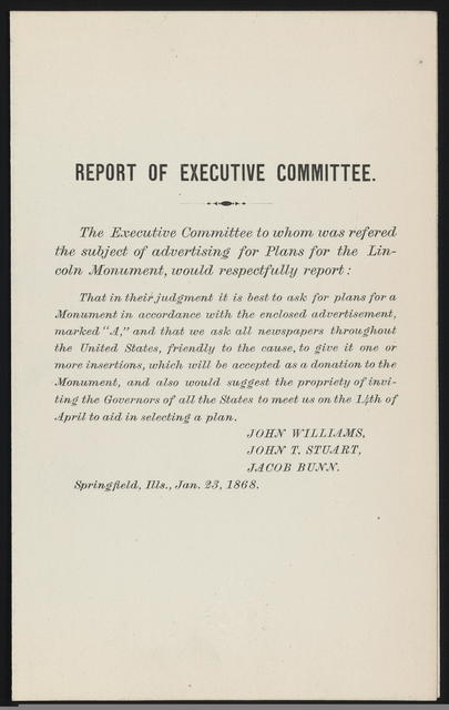 Report of the Executive Committee.