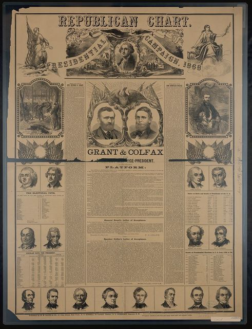 Republican chart for the presidential campaign, 1868 / E. Baldwin eng.