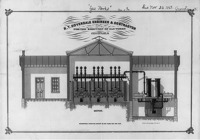 R.T. Coverdale engineer & contractor for the erection of gas works, Cincinnati, O. / lith. of Strobridge & Co. Cin. O.