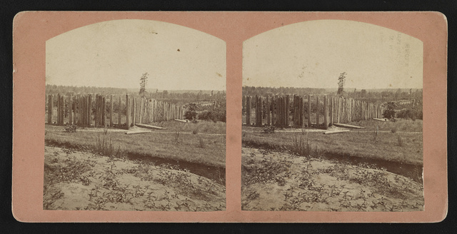 [Stockade at Andersonville Prison, Andersonville, Georgia] / Photographed and published by Engle & Furlong, Fernandina, Fla.