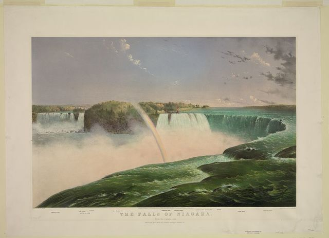 The Falls of Niagara--From the Canada side / painted by B. Hess ; Parsons & Atwater del.