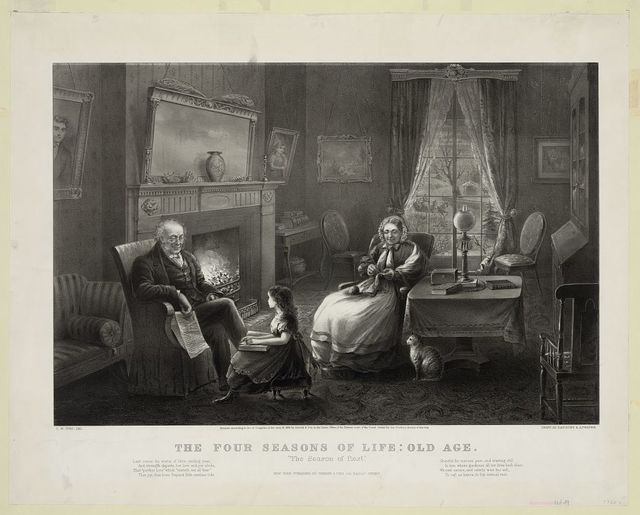 """The Four seasons of life: old age """"The season of rest"""" / / J.M. Ives, del. ; drawn by Parsons & Atwater."""