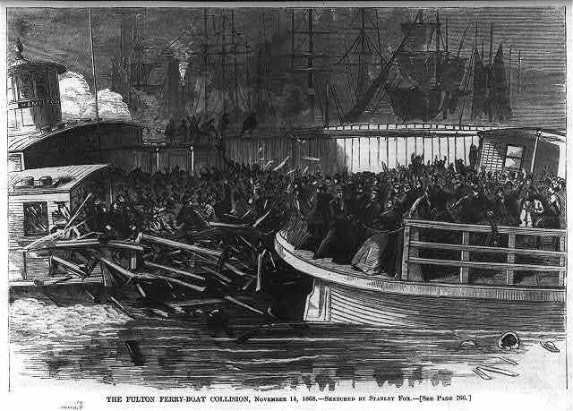 The Fulton Ferry boat collision, November 14, 1868