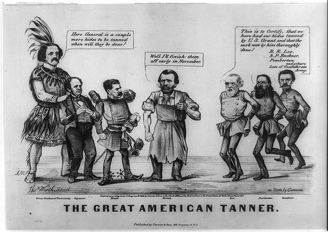 The great American tanner / Thos. Worth. sketch ; on stone by [John] Cameron.