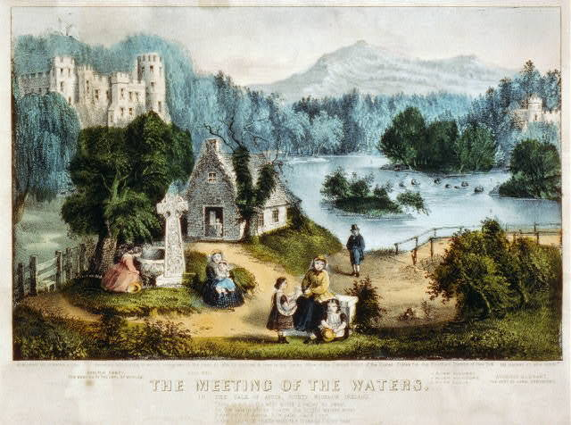The meeting of the waters: in the Vale of Avoca, County Wicklow Ireland