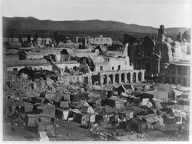 The principal square of Arequipa, after the earthquake