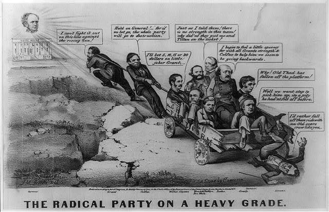 The Radical Party on a heavy grade / J.M. Ives, del. ; on stone by Cameron.