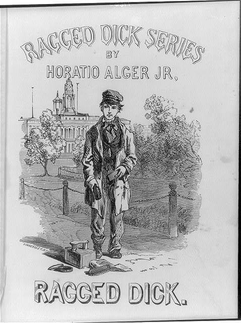 "[Title page, illus. for ""Ragged Dick""]"