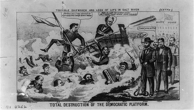 Total destruction of the Democratic platform / terrible shipwreck and loss of life in Salt River