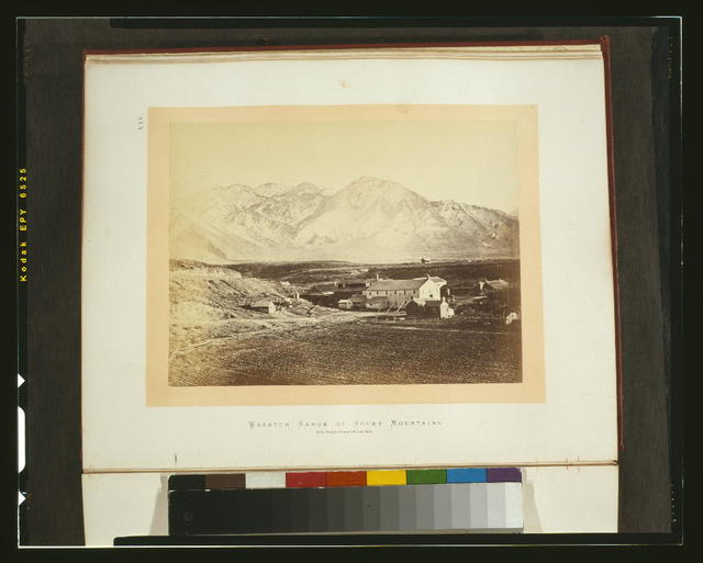 Wasatch Range of Rocky Mountains - from Brigham Young's woolen mills