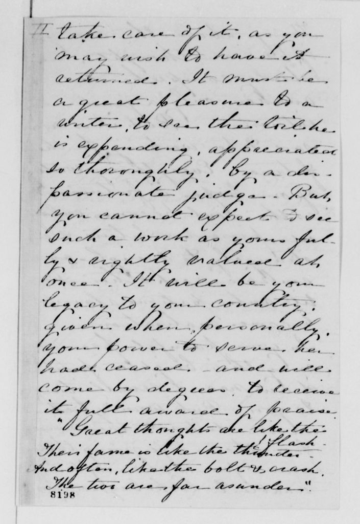 Alexander Hamilton Stephens Papers: General Correspondence, 1784-1886; 1869, Mar. 6-May 19