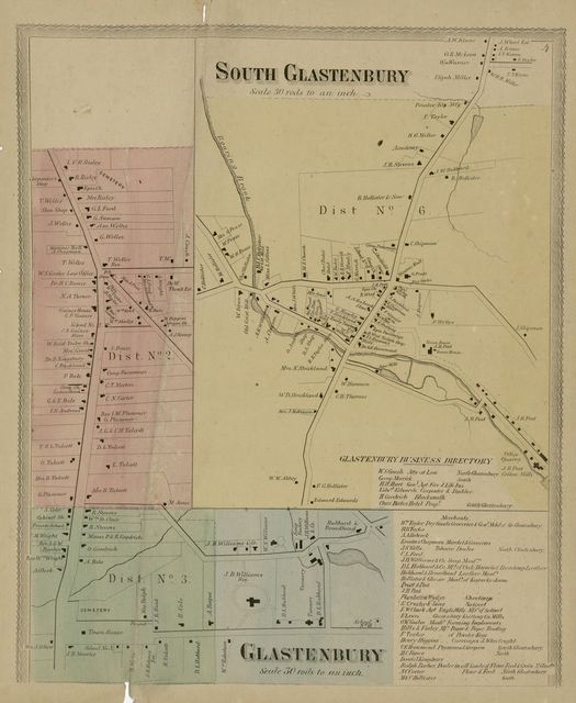 Atlas of Hartford and Tolland counties : with a map of Connecticut, from actual surveys /