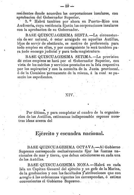 Bases de las leyes especiales para el gobierno de Cuba y Puerto-Rico presentadas al gobierno supremo en marzo de 1867 /