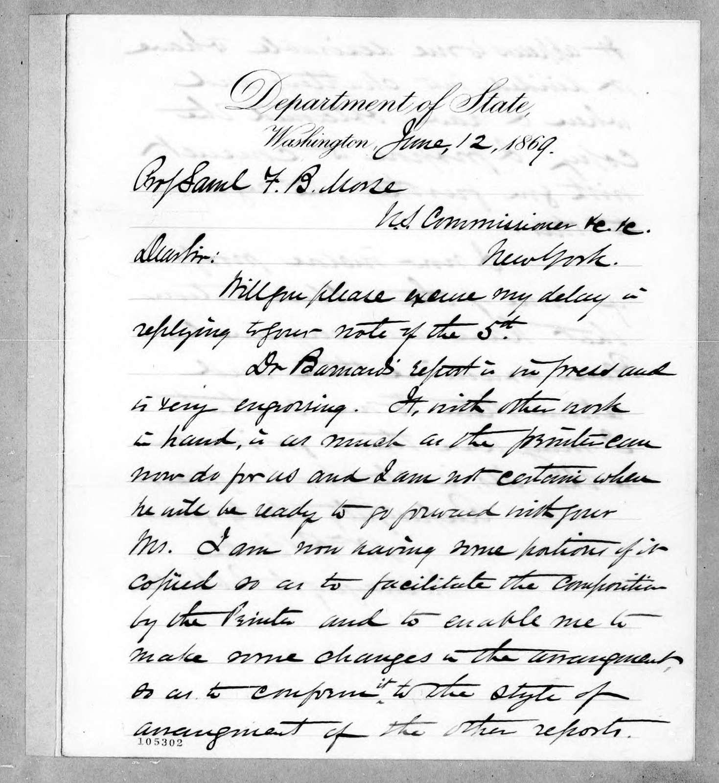 Bound volume---12 June 1869-15 February 1871