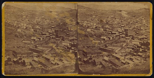 [Central City; showing its numerous churches, library building, school houses, etc.]