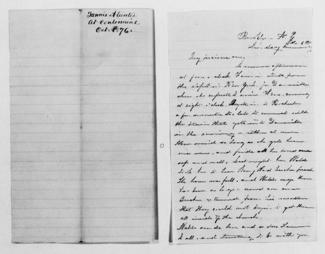 Clara Barton Papers: General Correspondence, 1838-1912; Atwater, Fannie, 1869-1881, undated