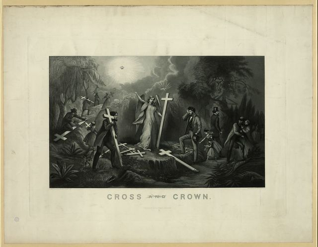 Cross and crown / from original by Geo. Pierce Jr. ; engraved by Geo. E. Perine.