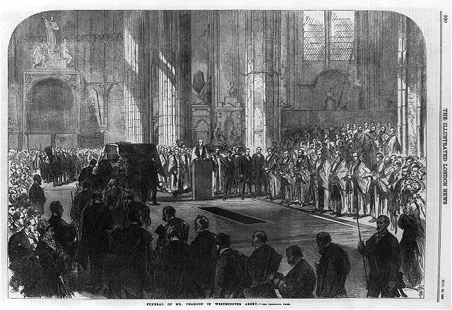 Funeral of Mr. [George] Peabody in Westminster Abbey