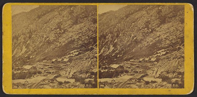 [Middle of Cottonwood Canyon, no. 1, Wasatch Mountains, Utah]