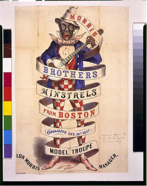 Morris Brothers minstrels from Boston, organized Dec. 14th, 1857--The model troupe / Ledger Job Print, Phila.
