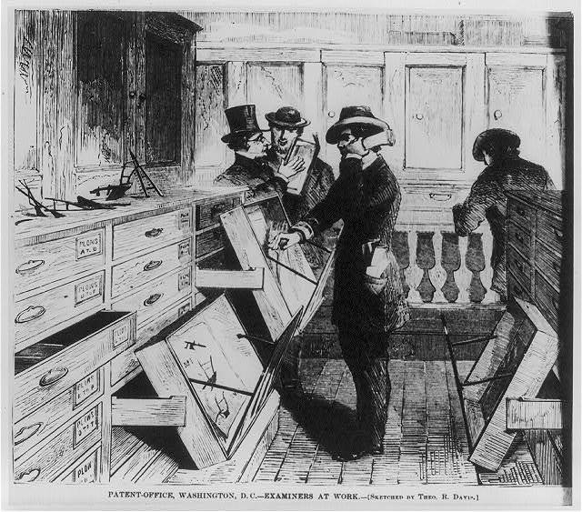Patent Office, Washington, D.C. - examiners at work