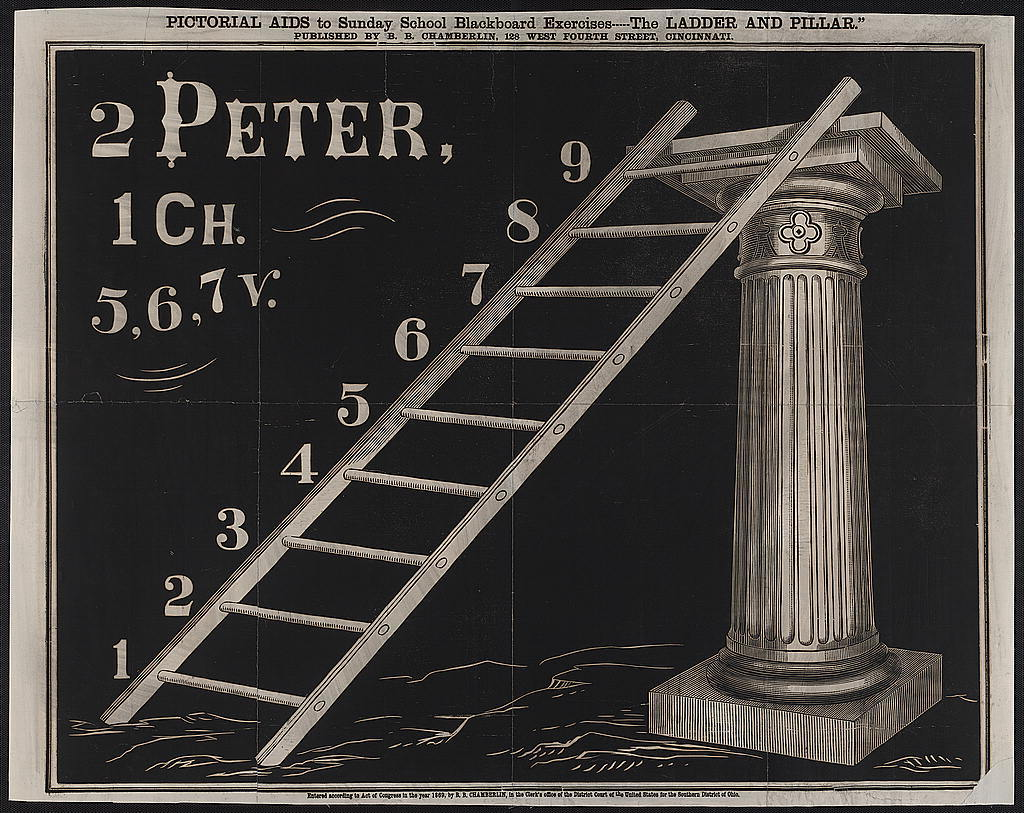 Pictorial aids to Sunday School blackboard excercises. The ladder and pillar