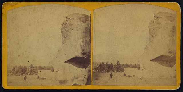 The Natural Sphinx Rock-front view-in the Arkansas Valley