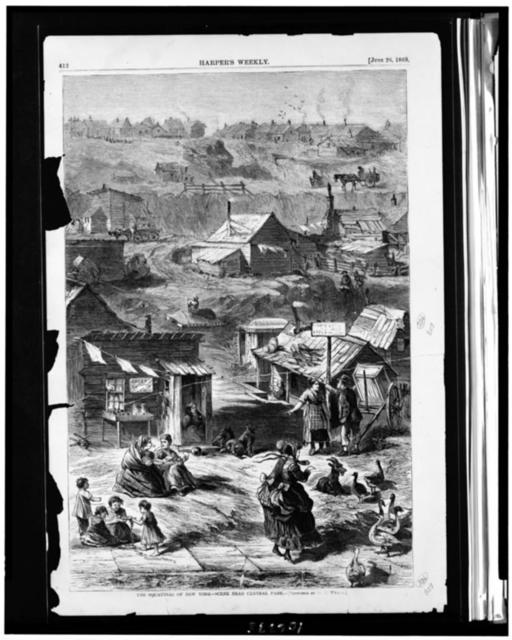 The Squatters of New York--scene near Central Park / sketched by D.E. Wyand.