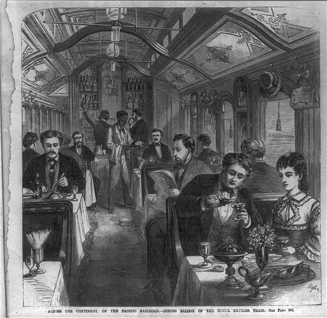 Across the continent, on the Pacific Railroad - drawing-room of the hotel express train