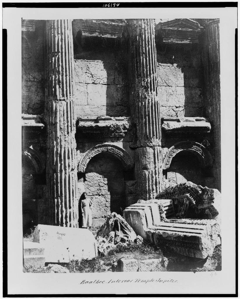 Baalbec. Interior of Temple Jupiter / Bonfils.