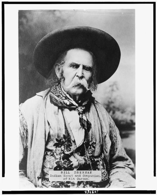 Bill Drennan, Indian scout and companion of Kit Carson / N.H. Rose, San Antonio, Texas, photographer.