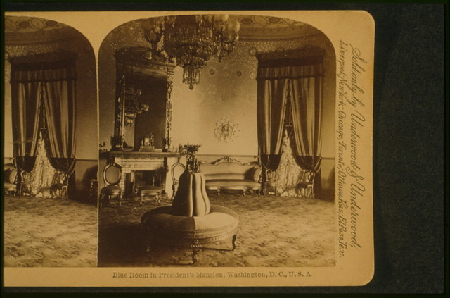 Blue room in President's mansion, Washington, D.C., U.S.A.