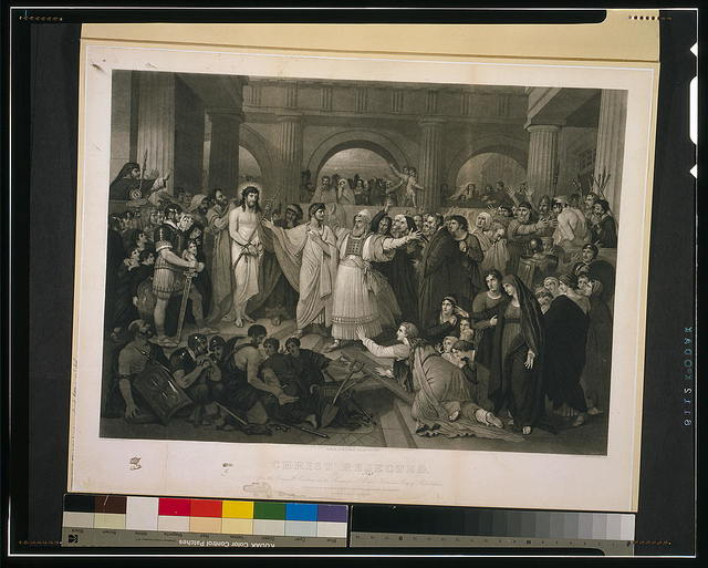 Christ rejected / the original by B. West, 1819 ; engraved by John Sartain, Phila., 1870.