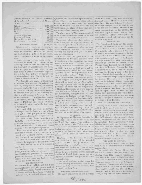 Circular of the Montana immigrant association. Preamble - constitution- object. Helena, 1870.