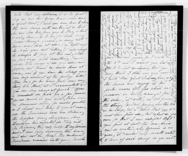 Clara Barton Papers: General Correspondence, 1838-1912; Upton, Ellen, 1870-1883, undated
