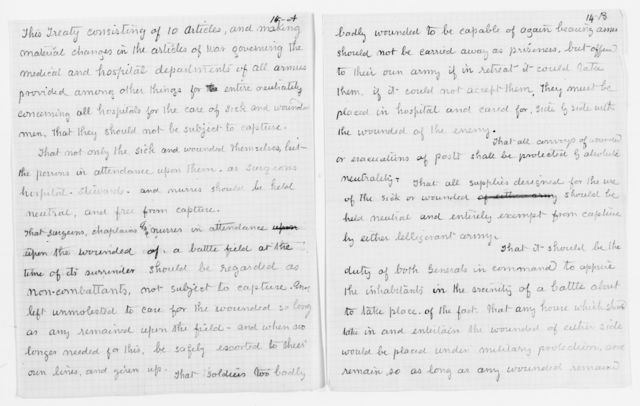 Clara Barton Papers: Speeches and Writings File, 1849-1947; Speeches and lectures; Franco-Prussian War lecture, 1870s