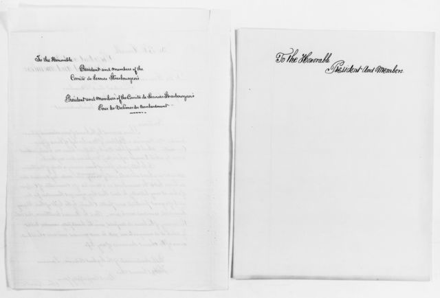Clara Barton Papers: Subject File, 1861-1952; Franco-Prussian War; Correspondence, 1870-1872, undated
