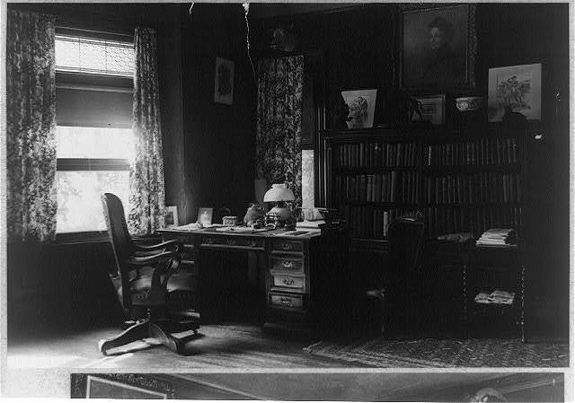 [Desk in library at Sagamore Hill]