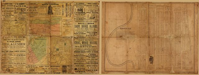 Ed. H. Radcliffe's (Frankford, Pa.) business map of Bristol, Bordentown, Burlington, and Mount Holly.