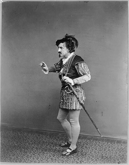 """[Edwin Booth as Iago in Othello, """"let us be conjunct""""]"""