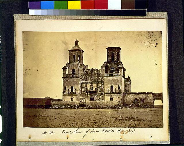 Front view of San Xavier del Bec [i.e., Bac]
